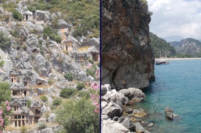 Ruines de Myra et deep water soloing à Olympos